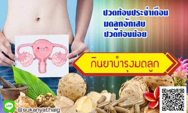 ยาบำรุงมดลูก แก้ปวดท้องประจำเดือน ปวดท้องน้อยและมดลูกอักเสบ